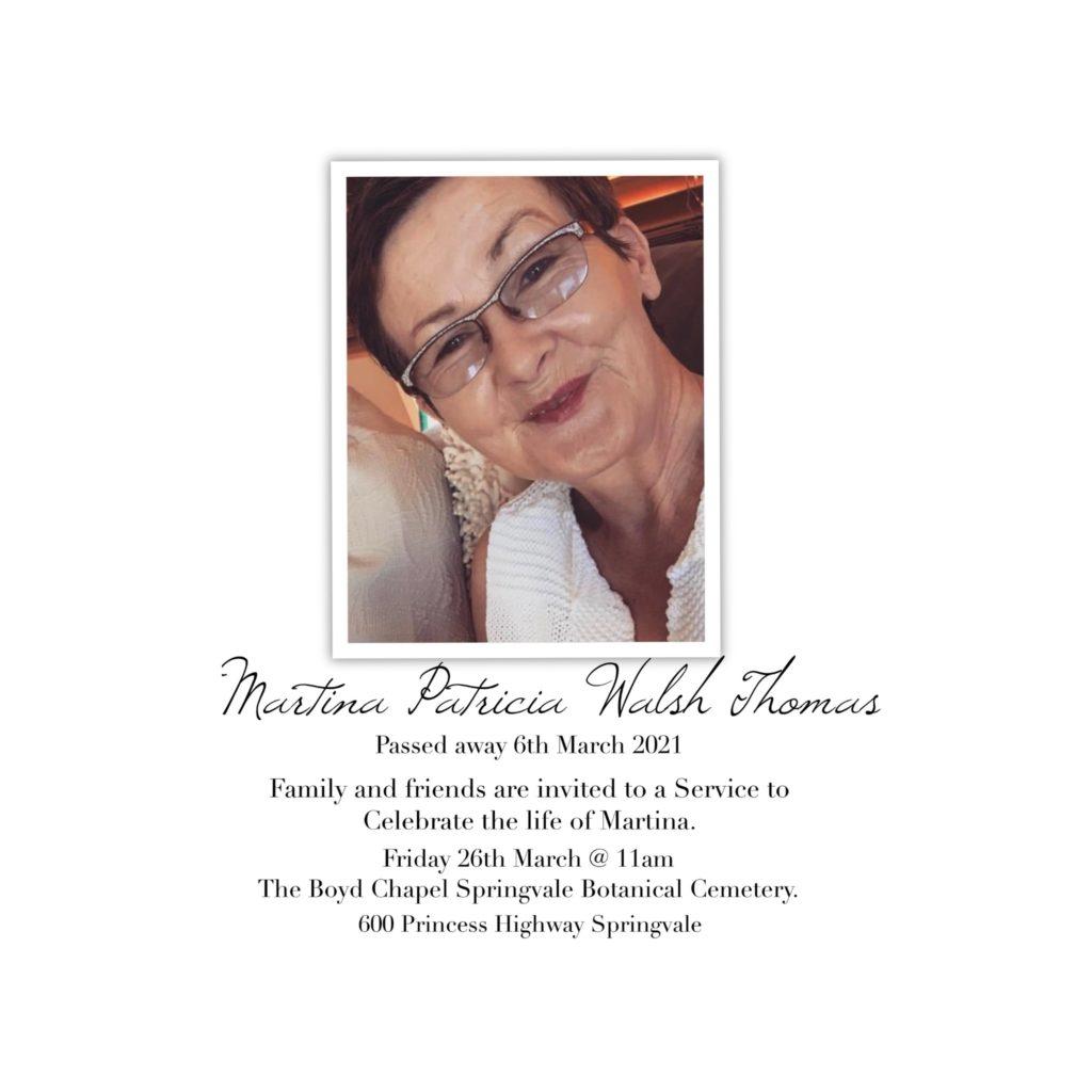 Martina Patricia Walsh Thomas -